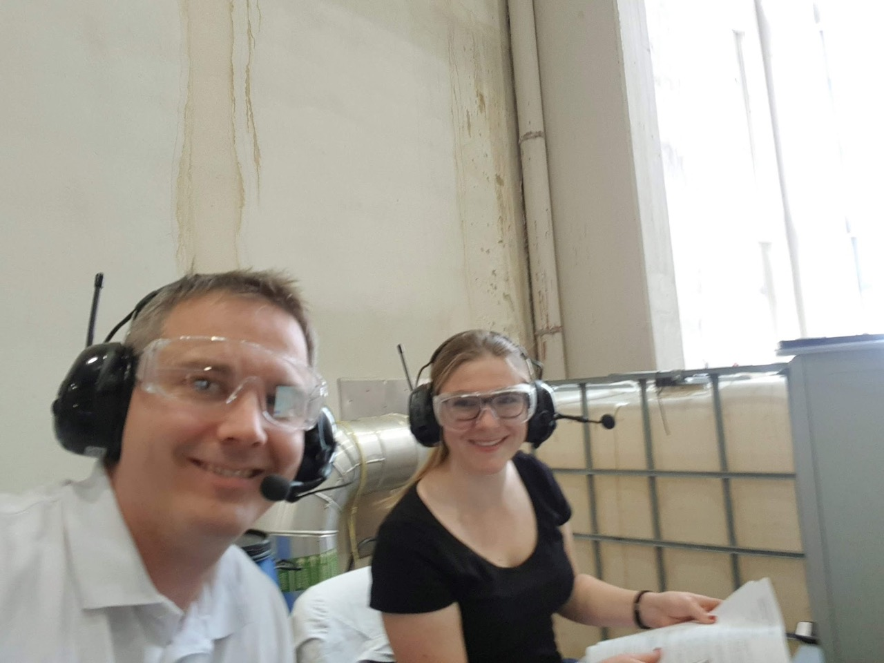 Niki Schwaiger and colleague at SAPPI